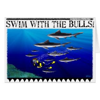 Zwem met de Kaart van Stieren (spatie)