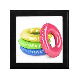 Zwem ringen decoratiedoosje