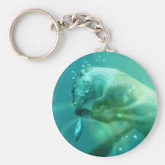 Zwemmende Otter Keychain Sleutelhanger