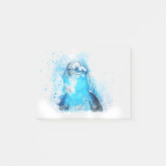 Zwemt het Mariene Dier van de dolfijn het Lot van Post-it® Notes