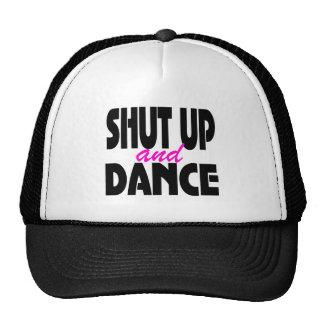 Zwijg en dans petten met netje