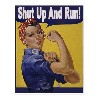 Zwijg en LOOP!!! Briefkaart