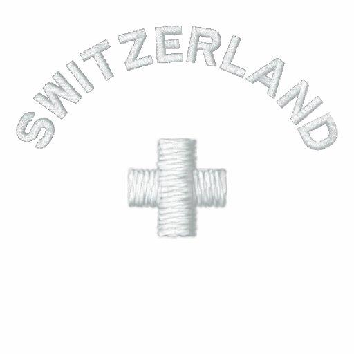 Zwitserland Geborduurd Polo Shirt