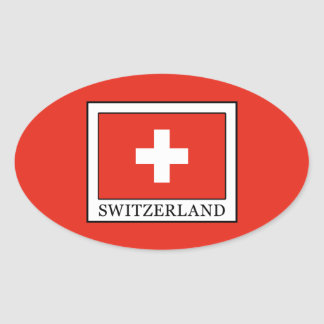 Zwitserland Ovale Sticker