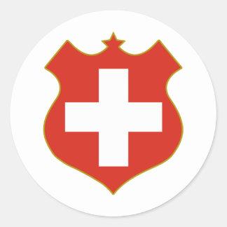 Zwitserland-Shield.png Ronde Sticker
