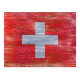 Zwitserland verontrustte Zwitserse vlag Briefkaart