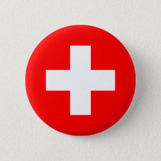Zwitserland - Zwitserse Vlag Ronde Button 5,7 Cm