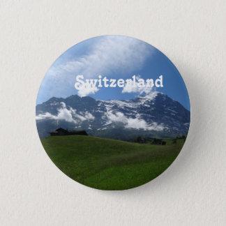 Zwitsers Landschap Ronde Button 5,7 Cm