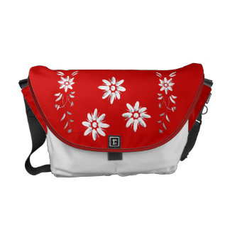 Zwitsers vlag en edelweiss courier bags