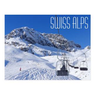 Zwitserse alpen, briefkaart door spijker zonder
