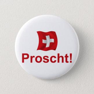 Zwitserse Proscht! Ronde Button 5,7 Cm