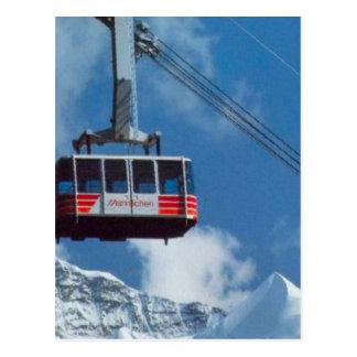Zwitserse spoorwegen; De post van Hassliberg Briefkaart