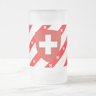 Zwitserse strepenvlag matglas bierpul
