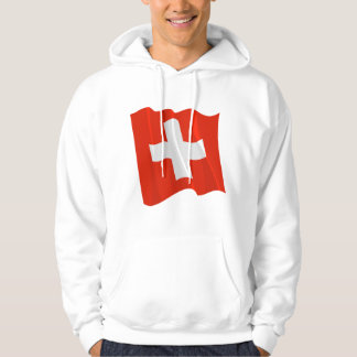 Zwitserse Vlag Mannen Hoodie