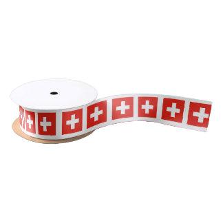 Zwitserse Vlag Satijnen Lint