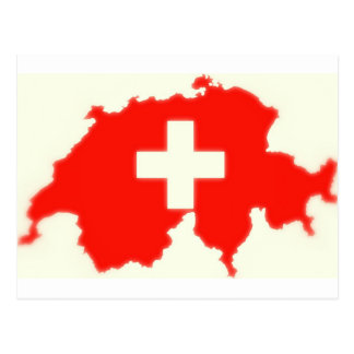 Zwitserse vlagkaart briefkaart